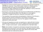 financial and accountability framework one plan2 opmp observations contd2