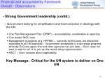 financial and accountability framework overall observations1