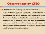 observations by cteo