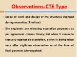 observations cte type