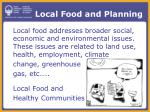 local food and planning