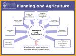 planning and agriculture