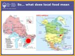 so what does local food mean