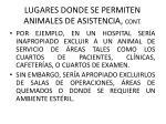 lugares donde se permiten animales de asistencia cont