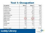 test 1 occupation