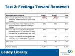 test 2 feelings toward roosevelt