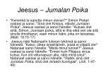 jeesus jumalan poika