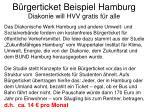 b rgerticket beispiel hamburg diakonie will hvv gratis f r alle