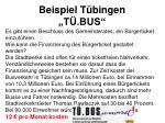 beispiel t bingen t bus