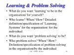 learning problem solving