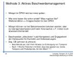 methode 3 aktives beschwerdemanagement