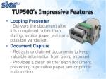 tup500 s impressive features
