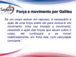 for a e movimento por galileu