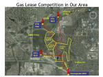 gas lease competition in our area