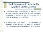 da deontologia do rbitro dr augusto lopes cardoso1