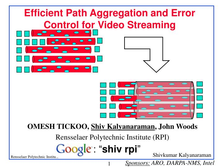 efficient path aggregation and error control for video streaming n.