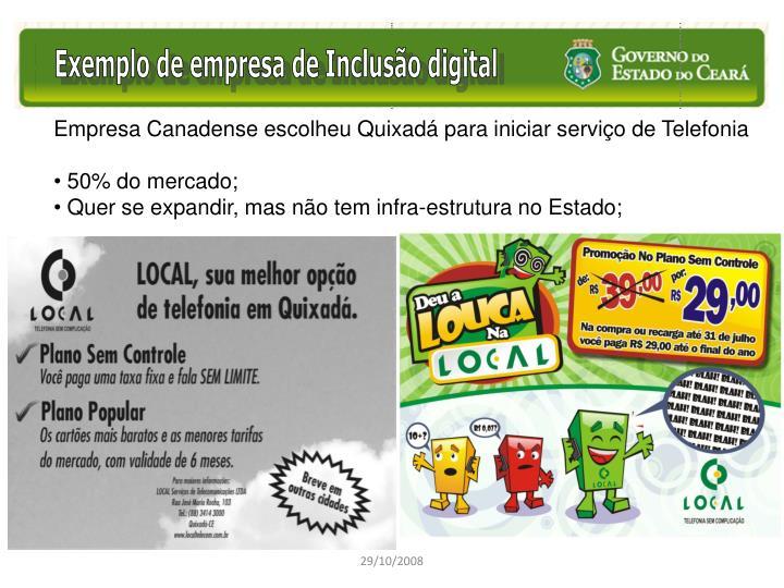Exemplo de empresa de Inclusão digital