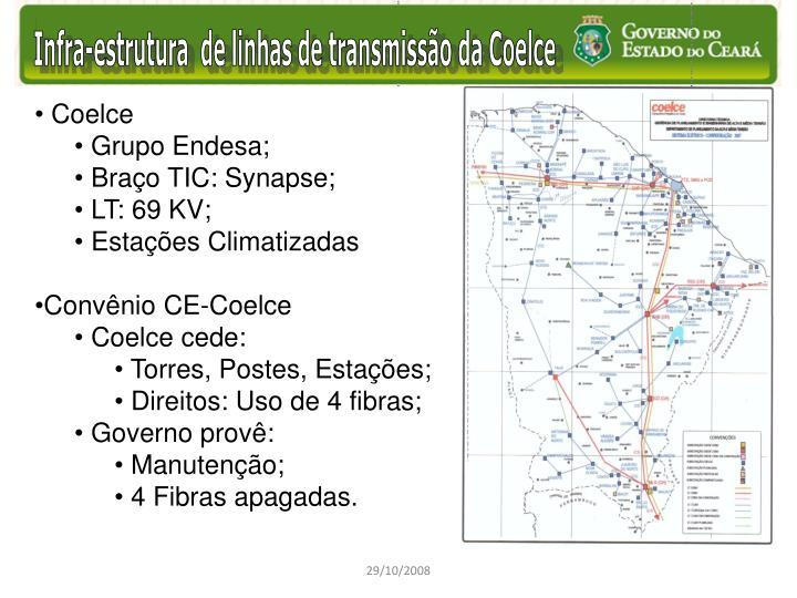 Infra-estrutura  de linhas de transmissão da Coelce