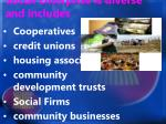social enterprise is diverse and includes