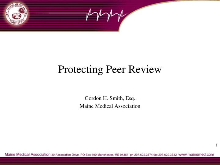 protecting peer review n.