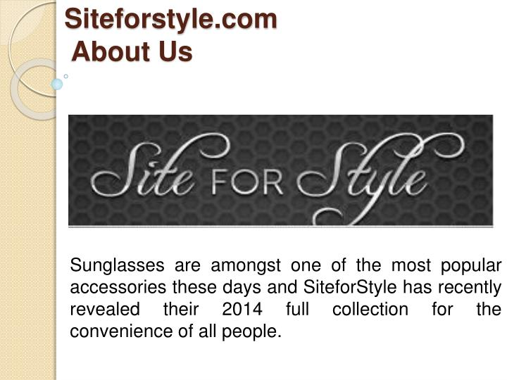 siteforstyle com about us n.