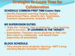 strategies to create time for collaboration