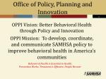 office of policy planning and innovation