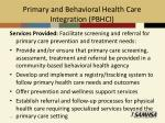 primary and behavioral health care integration pbhci1