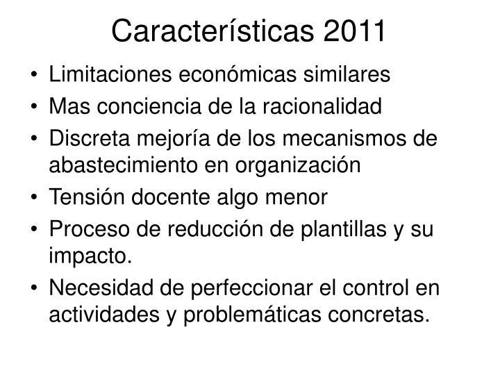 Características 2011