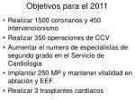 objetivos para el 2011