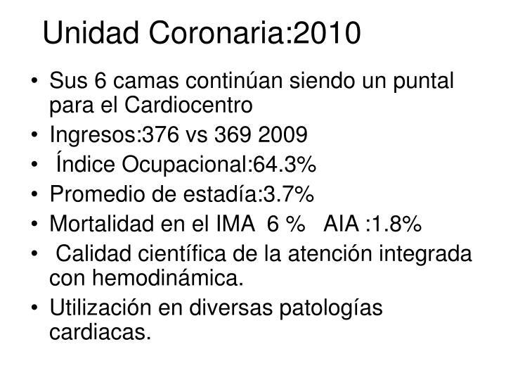 Unidad Coronaria:2010