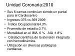 unidad coronaria 2010