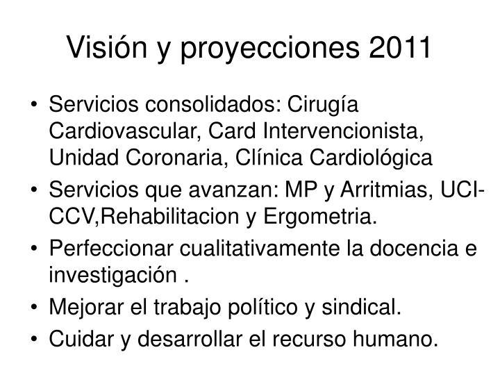 Visión y proyecciones 2011