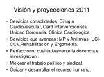 visi n y proyecciones 2011
