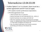 telemedicine ld 04 03 09