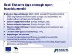 eesti elukestva ppe strateegia raport baasdokumendid