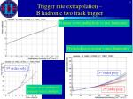 trigger rate extrapolation b hadronic two track trigger