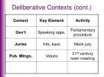 deliberative contexts cont3