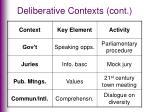 deliberative contexts cont4