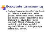 e accountu lubo lukas k ci