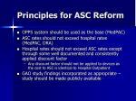 principles for asc reform