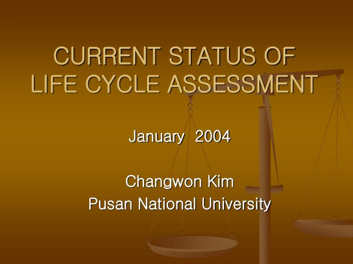 current status of life cycle assessment n.