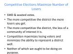 competitive elections maximize number of losers