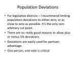 population deviations