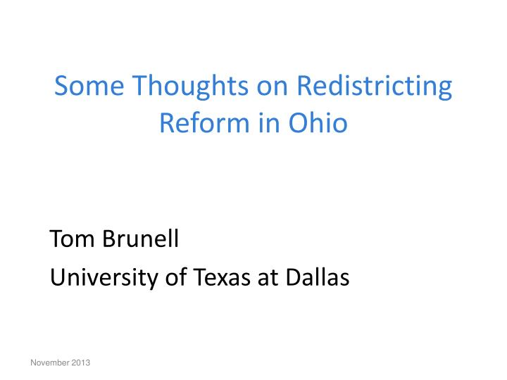 some thoughts on redistricting reform in ohio n.