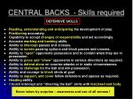 central backs skills required