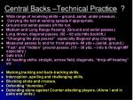 central backs technical practice