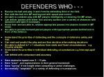 defenders who