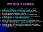 defending implications