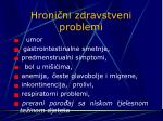 hroni ni zdravstveni problemi